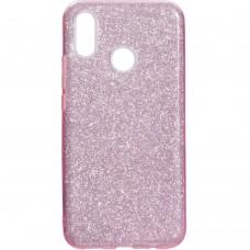 Силиконовый чехол Glitter Huawei P Smart Plus / Nova 3i (розовый)