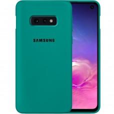 Силикон Original Case Samsung Galaxy S10e (Тёмно-зелёный)