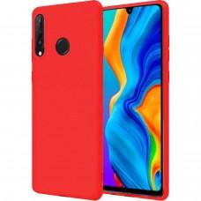 Силиконовый чехол iNavi Color Huawei P30 Lite (Красный)