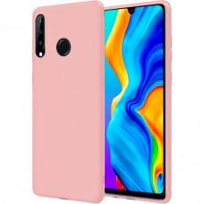 Силиконовый чехол iNavi Color Huawei P30 Lite (Розовый)