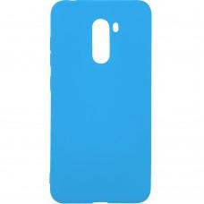 Силиконовый чехол iNavi Color Xiaomi Pocophone F1 (голубой)