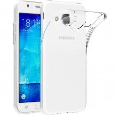 Силикон QU Case Samsung Galaxy J5 (2015) J500 (Прозрачный)