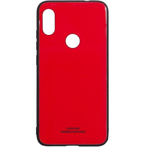 Накладка Glass Case Xiaomi Redmi Note 6 / Note 6 Pro (красный)