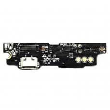 Шлейф (Flat Cable) Meizu M3 Note (M681) с разъёмом зарядки, микрофоном, вибро, плата зарядки