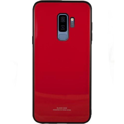 Накладка Glass Case Samsung Galaxy S9 (красный)