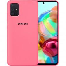Силикон Original Case Samsung Galaxy A71 (2020) (Клубничный)