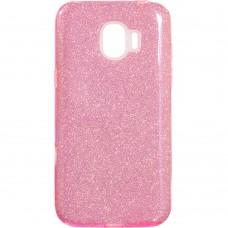 Силикон Glitter Samsung J2 (2018) J250 (розовый)