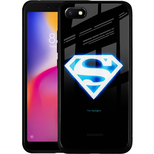 Накладка Luminous Glass Case Xiaomi Redmi 6A (Superman)