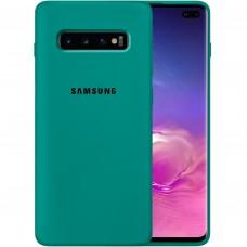 Силикон Original Case Samsung Galaxy S10 Plus (Тёмно-зелёный)