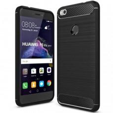 Силикон Polished Carbon Huawei P8 Lite (2017) (Чёрный)