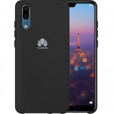 Силикон Original Case Logo Huawei P20 (Чёрный)