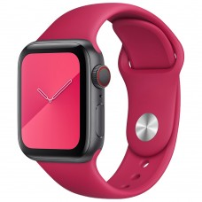 Ремешок Apple Watch Silicone 38 / 40mm (04) Rose Red