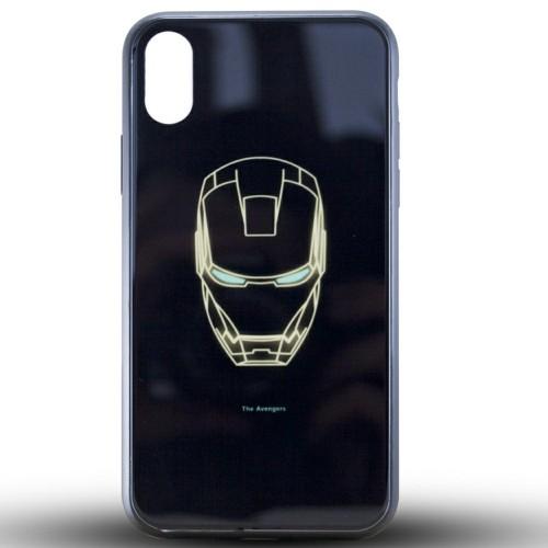 Накладка Luminous Glass Case Apple iPhone XR (Ironman)