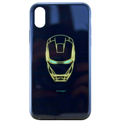 Накладка Luminous Glass Case Apple iPhone XR (Ironman)