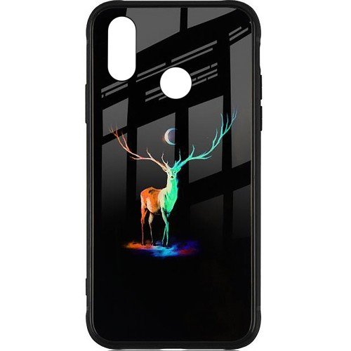 Накладка Luminous Glass Case Huawei P Smart Plus / Nova 3i (Deer)