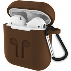 Футляр для наушников Apple AirPods Full Silicone Case (30) Milk Chocolate