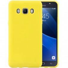 Силиконовый чехол iNavi Color Samsung Galaxy J7 (2016) J710 (желтый)