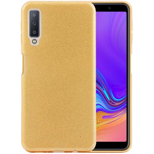 Силикон Glitter Samsung Galaxy A7 (2018) A750 (золотой)