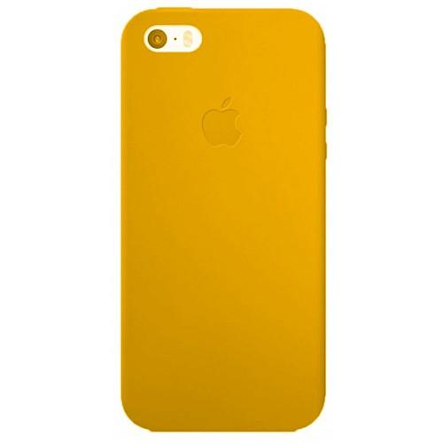 Силиконовый чехол Super Slim iPhone 5 (золотой)