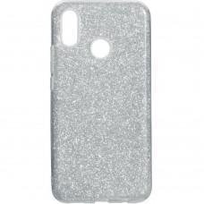 Силиконовый чехол Glitter Huawei P Smart Plus / Nova 3i (серебрянный)