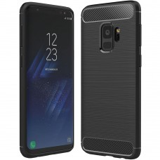 Силикон Polished Carbon Samsung Galaxy S9 (Чёрный)