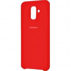 Силиконовый чехол Original Case Samsung Galaxy A6 Plus (2018) A605 (Красный)