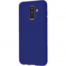 Силикон iNavi Color Samsung Galaxy A6 Plus (2018) A605 (темно-синий)