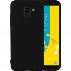 Силиконовый чехол iNavi Color Samsung Galaxy J6 (2018) J600 (чёрный)