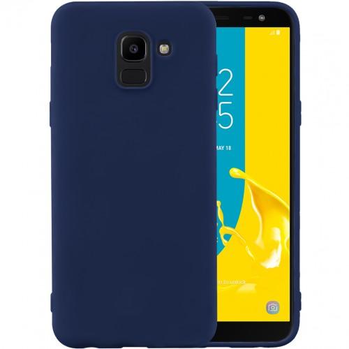 Силиконовый чехол iNavi Color Samsung Galaxy J6 (2018) J600 (темно-синий)